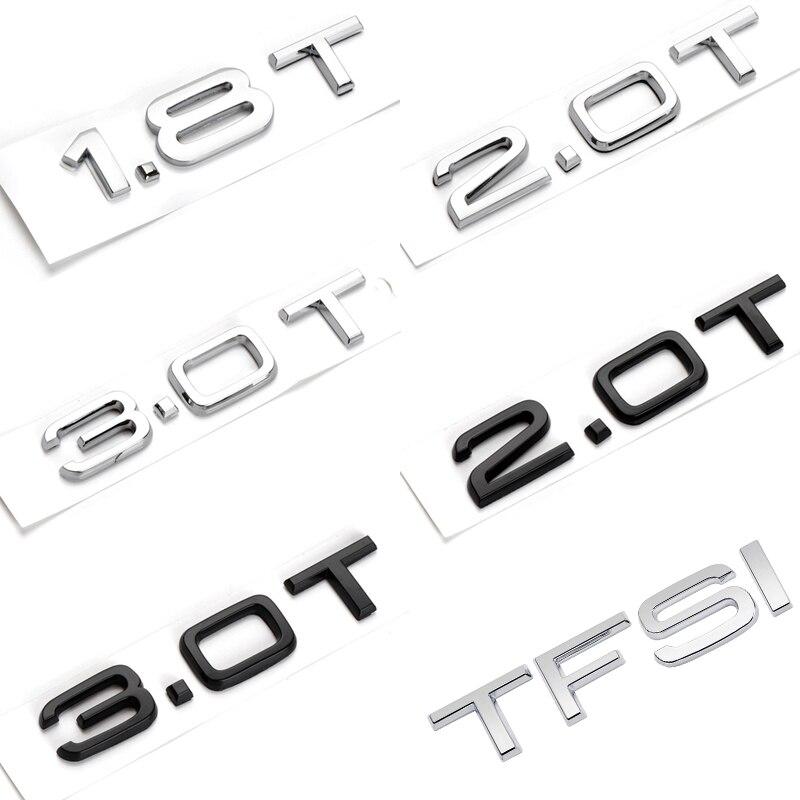 Наклейка с буквами логотипа для багажника автомобиля Audi B4 B5 B6 B7 B8 B9 C4 C5 C6 C7 Allroad Q2 Q3 Q4 Q5 Q6 Q7 R8 1,8 T 2,0 T 3,0 T TFSI V6T V8T