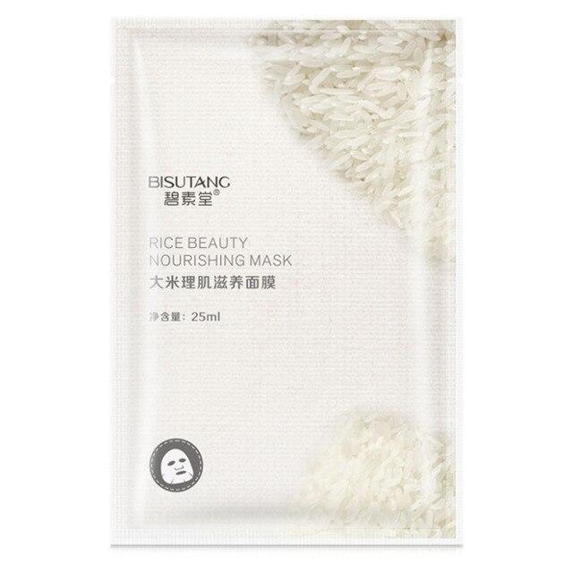 Рисовая маска для лица увлажняющая маска для лица свежая маска против акне растительный экстракт контроль масла увлажняющие маски для лица