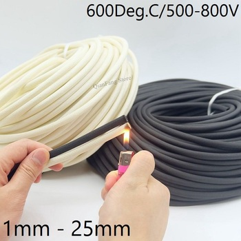 5/10M Fiberglass Tube 1mm ~ 25mm HTG Cable Sleeve Soft Chemical Fiber Glass Wire Wrap Protector Insulation High Temperature Pipe - sale item Electrical Equipment & Supplies