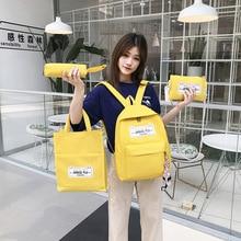 Womens Canvas Assortments Backpack Korean-style Fashion Shoulder Bag Student Durable Versatile School