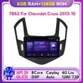 6G + 128G Android 10 DSP QLED автомобильное радио для Chevrolet Cruze J300 J308 2012-2015 Автомобильный мультимедийный видео плеер навигация GPS Carplay