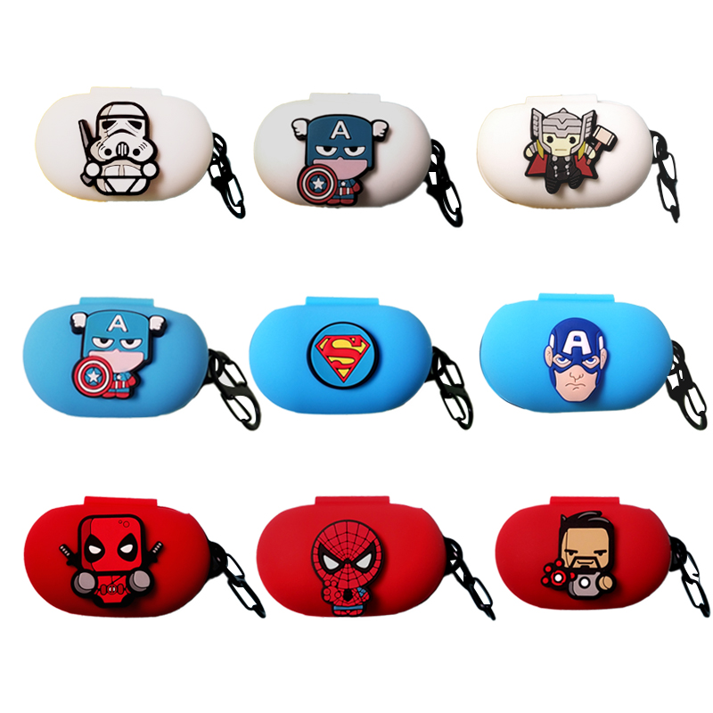 Cartoon Silicon Cover For Samsung Galaxy Buds 2019 Case Charging Sleeve Wireless Headphone Earphone Protective Skin
