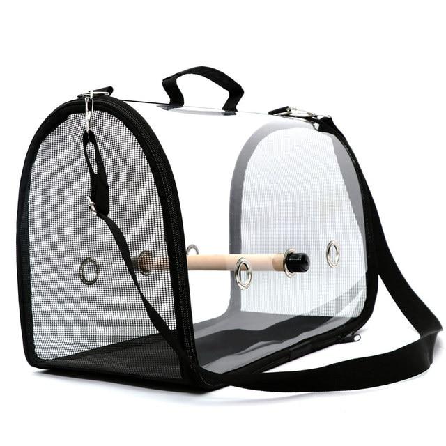 Portable Clear Lightweight Breathable Bird Travel Bag  3