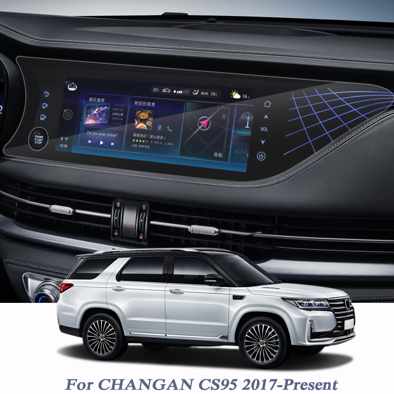 Car Styling GPS Navigation Screen Glass Protective Film For CHANGAN CS95 2012-2020 Control Of LCD Screen Car Sticker Accessories
