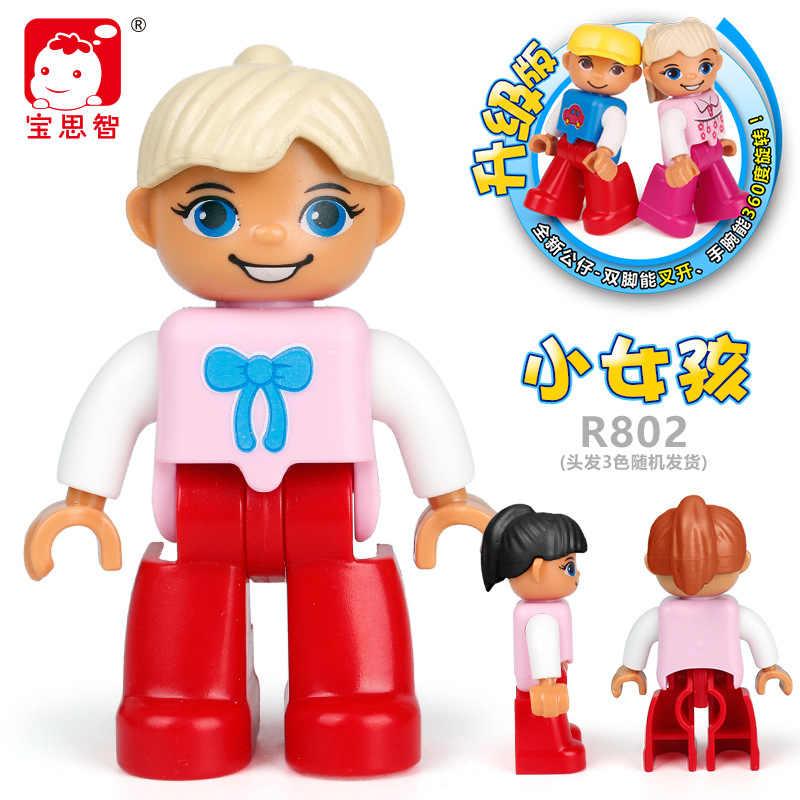 Duplo serie bouwstenen grootouders papa mama ober karakter model duploblokje kinderen educatief bouwstenen speelgoed