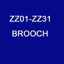 Personalizado zircônia cúbica moda broches jóias de cobre ZZ01-ZZ31