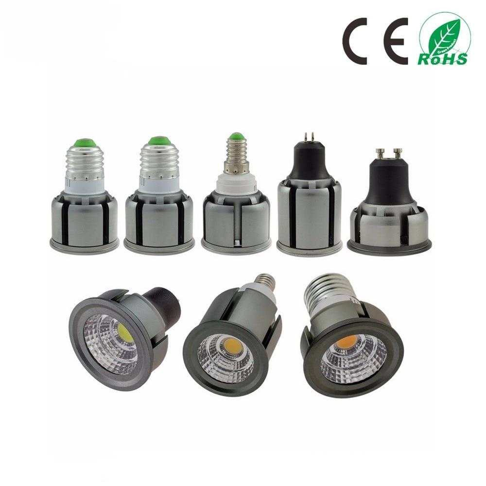 LED Bulbs COB E27 E14 GU10 9W 12W 15W 20W 25W Dimmble Spotlight LED Down Spot Light Warm White White Home Living Room Bulb Lamp