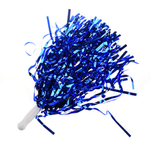 Party Costume Sports Cheerleader Party Favors Flower Ball Pom Poms Hot New Blue metallic color cheerleader pom poms w plastic handle deep pink