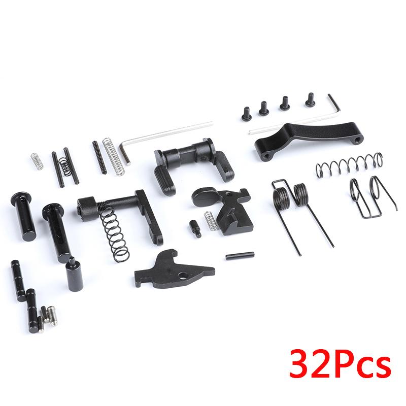 airsoft M4 hunting accessories Tactical 32pcs All AR15 Lower Parts Kit Springs Detents Magazine Catch Spare Parts