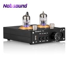 Nobsound HiFi Bluetooth 5.0 Vacuum Tube Power Amplifier Stereo Desktop Headphone Amp USB Music Player 50W+50W