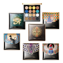 16Colors Zeesea Purple Color Egyptian Eye Shadow Plate Coral Peach Scarab Charming Snake Anderson Cat