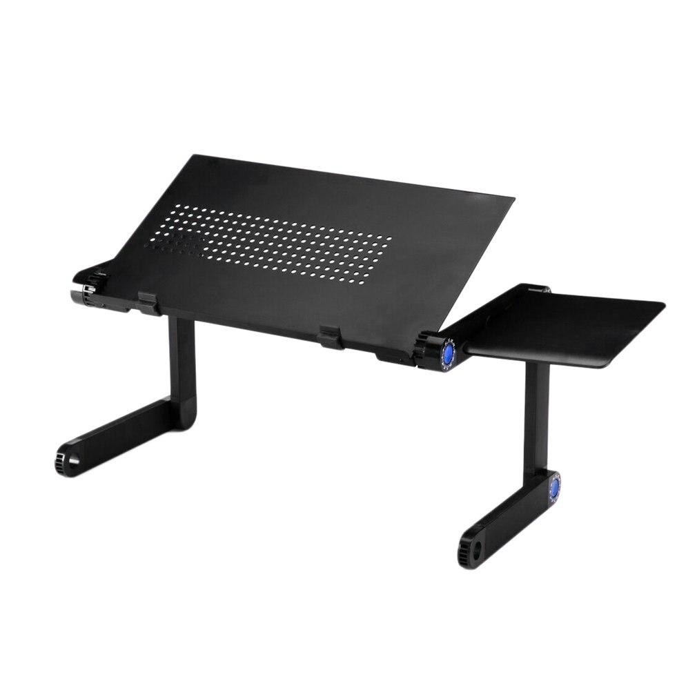 Plateau réglable pliable de support de Table de refroidissement de bureau dordinateur dalliage daluminium de Rotation de 360 ° avec la plaque de souris pour lordinateur portable