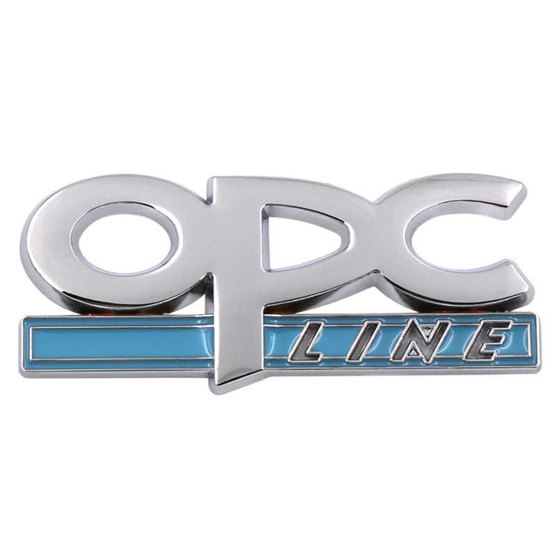 Voiture-style 3D métal OPC ligne emblème voiture côté garde-boue queue Badge autocollant pour OPEL Zafira b Corsa d Insignia Mokka Regal bâche de voiture