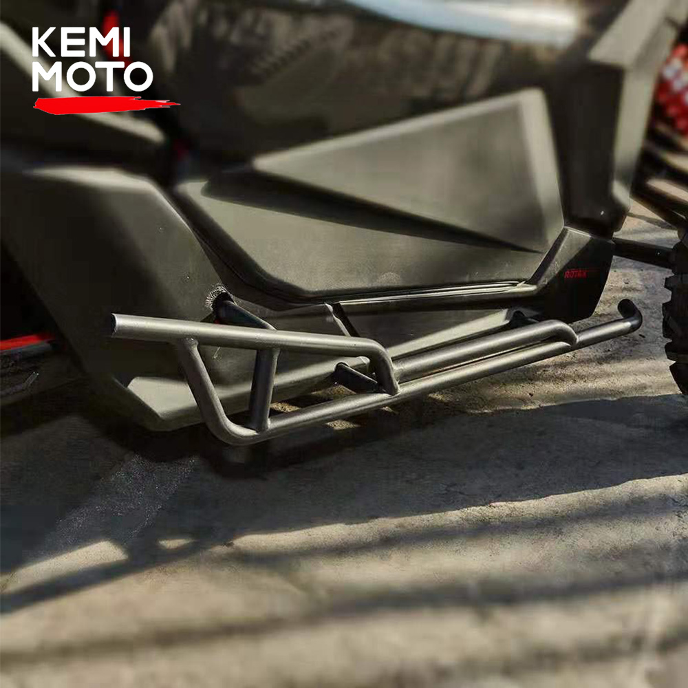 KEMIMOTO 2017 - 2020 For Can-Am Maverick X3 Nerf Bars Rock Slider For X3 900 HO Turbo STD R X DS RS DPS X RC MR Black