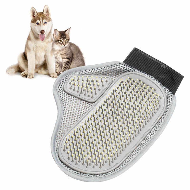 Nuevo paño práctico de perro cepillo de limpieza de pelo peine de masaje herramientas de guante de baño accesorios para mascotas productos para el aseo de perros gatos