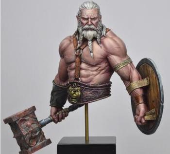 Unassambled 1/10 guerrero antiguo hombre con barba busto resina figura miniatura modelo kits sin pintar