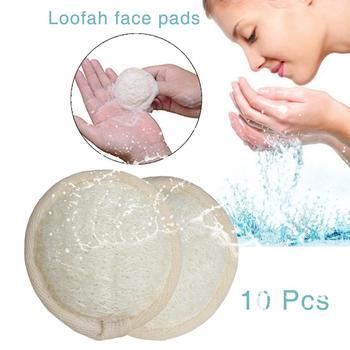 10Pcs/set Natural Loofah Sponge Face Body Bath Shower Spa Exfoliator Scrubber Pad Skin Care Loofah Face Cleaning Massage Brush