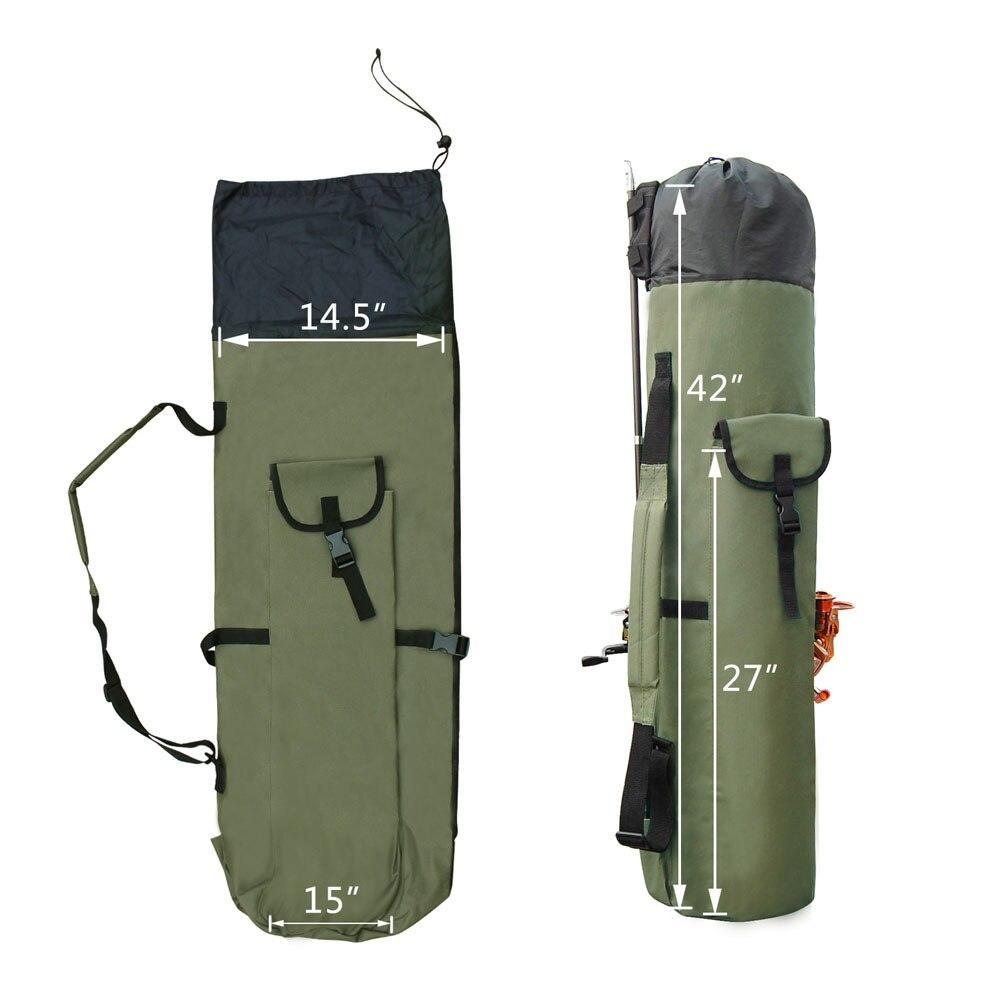 Shaddock Fishing Portable Multifunction Nylon Fishing Bags Fishing Rod Bag Case Fishing Tackle Tools Storage Bag-2