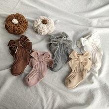 2021 nueva moda calcetines de niñas bebé arcos algodón princesa calcetines para chica dulce lindo de punto NIÑOS Calcetines 0-5Y