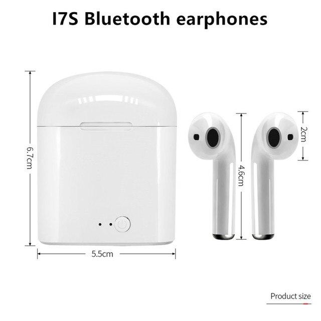 i7s Tws Wireless Headphones sports Earbuds Handsfree in ear Bluetooth Earphones music Headset Works on all smartphones goophone 5