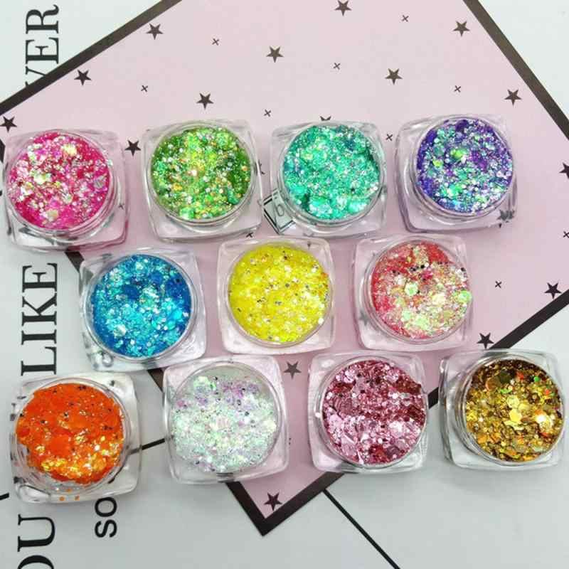 1pcs 5g 18 צבעים גליטר שמר צלליות צבעים גוף העין תכשיטים פיגמנט נצנצים מבריק לאורך זמן עמיד למים איפור כלים TSLM1