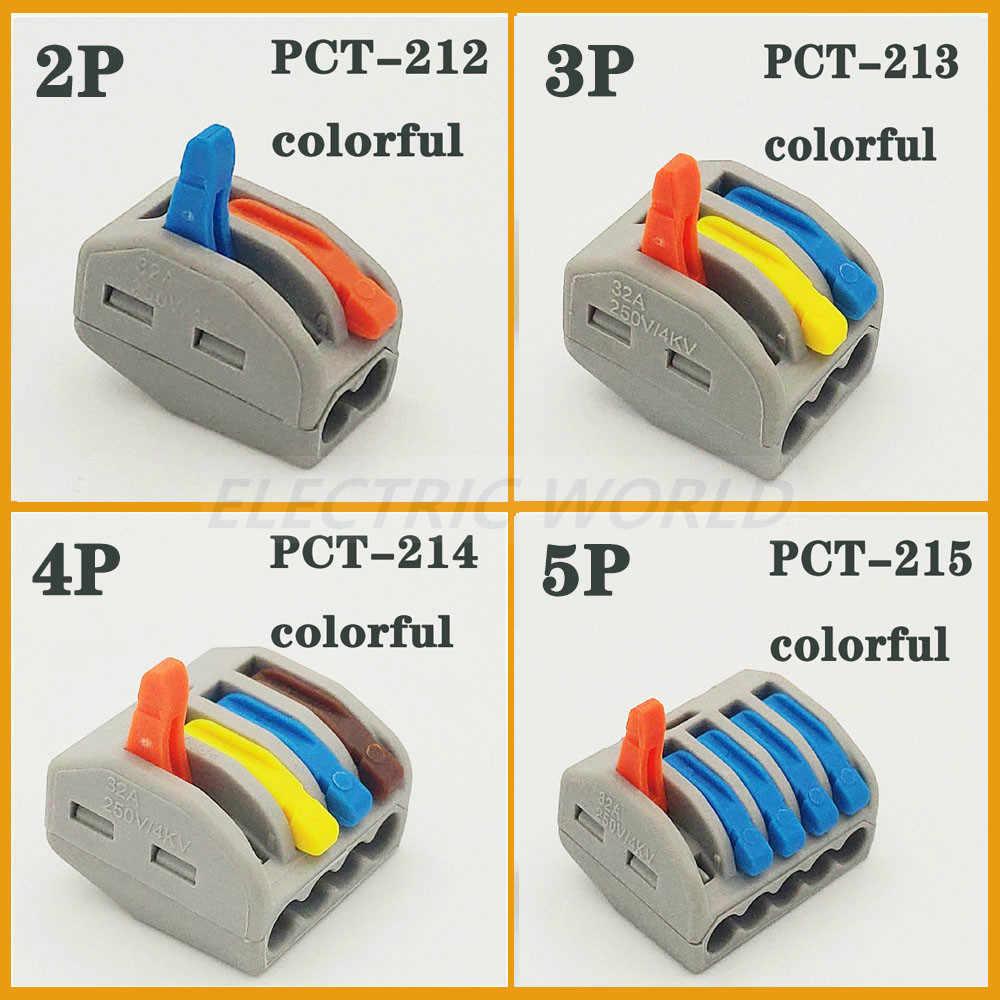 와이어 커넥터 미니 고속 전원 커넥터 범용 푸시 커넥터 플러그 인 와이어 터미널 블록 전기 푸시 인 케이블 커넥터