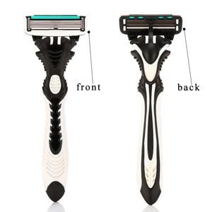 Image 3 - High Quality Dorco Razor Men 9 Pcs/lot 6 Layer Blades Razor for Men Shaving Stainless Steel Safety Razor Blades