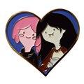 Пара принцесс жвачка-жвачка и Марселин эмалевая булавка Steven Universe время приключений марци и Бонни булавка в форме сердца