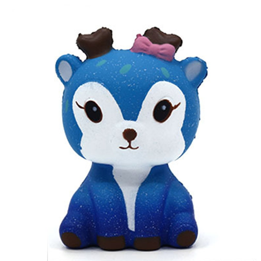 Mini Kawaii Cartoon Deer Squishy Slow Rising PU Cream Scented Stress Reliever Creative Squeeze Toy For Kids Adults