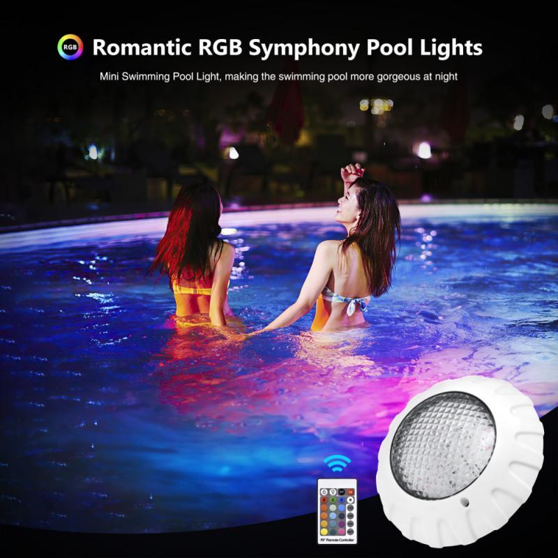 38w 12w led subaquática piscina luzes rgb