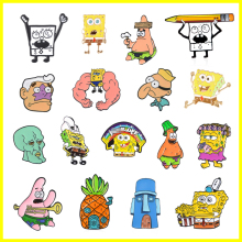 Cartoon Cute Fun Movie Character Pineapple House Enamel Brooch Alloy Badge Cowboy Clothes