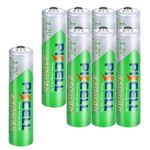 Image 2 - PKCELL batería recargable AAA de 850mah, 1,2 V NI MH, 3A, baja autodescarga, con 2 baterías de PC, caja de soporte, 8 piezas