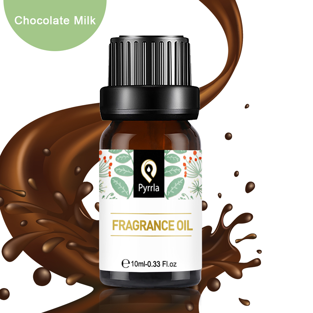 Pyrrla 10ml Chocolate Milk Essential Oil For Aromatherapy Flower Fruit Essential Oils White Musk Relieve Stress Fragrance Oil