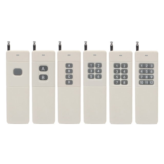 3000m Long Distance Range High Power 1/2/4/6/8/12CH RF Wireless Remote Control Transmitter 433 MHz Relay Switch light