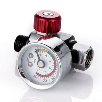 1pc czerwony Mini Regulator ciśnienia powietrza zawór 1 4 #8222 Relief farby Spraygun na pistolety natryskowe i narzędzia pneumatyczne akcesoria tanie i dobre opinie Metal 0 12kg China