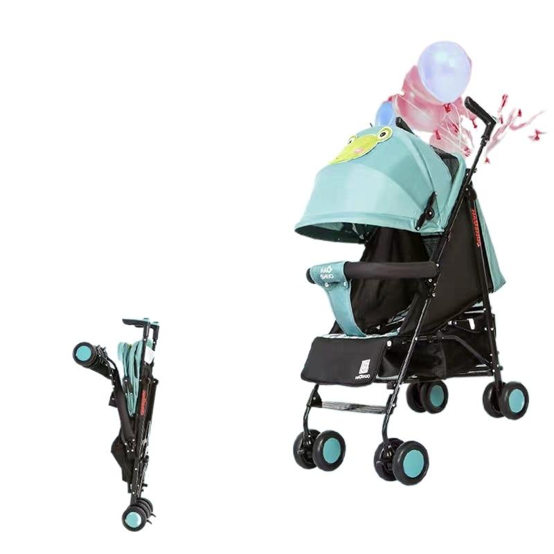 Baby Stroller Can Sit Can Lie Umbrella Car Cartoon Pattern Baby Trolley Infant Foldabl Lightweight Stroller