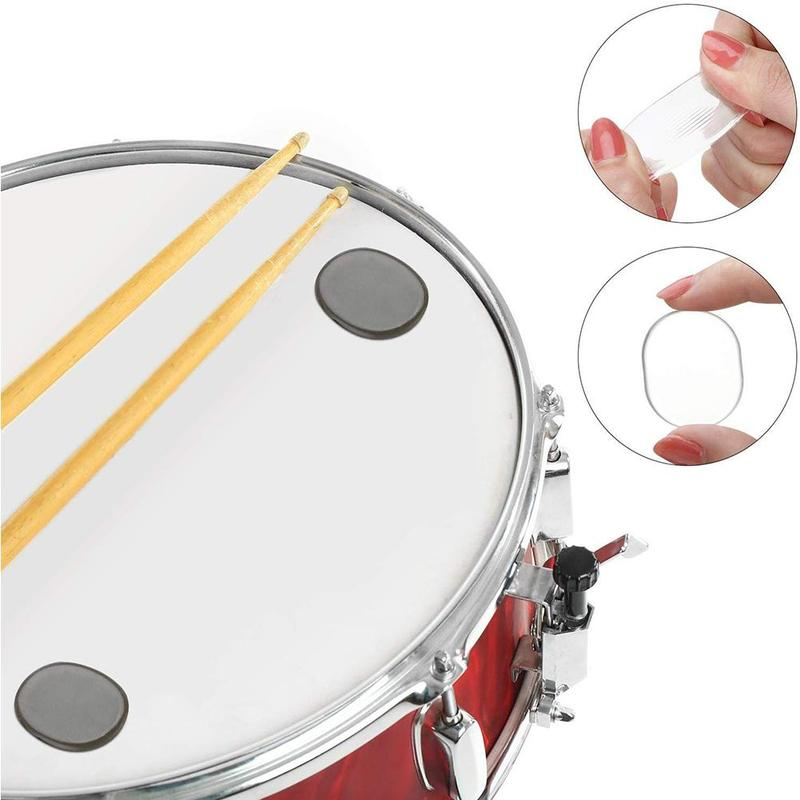 6pcs Drum Mute Pad Drum Pad Damper Silicone Pads For Drums Tone Control Transparent Percussion Instrument Accessories