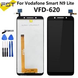 Czarny 5.34 ''For Vodafone Smart N9 Lite VFD 620 VFD 620 VFD620 wyświetlacz LCD + telefon z ekranem dotykowym Digitizer montaż część zamienna + narzędzia w Ekrany LCD do tel. komórkowych od Telefony komórkowe i telekomunikacja na