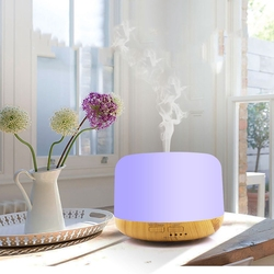 300Ml Aroma dyfuzor olejków eterycznych ultradźwiękowy nawilżacz do domu mini nawilżacz ekspres rozpylacz zapachów 130Ml 7 kolor Led Light Office w Nawilżacze powietrza od AGD na