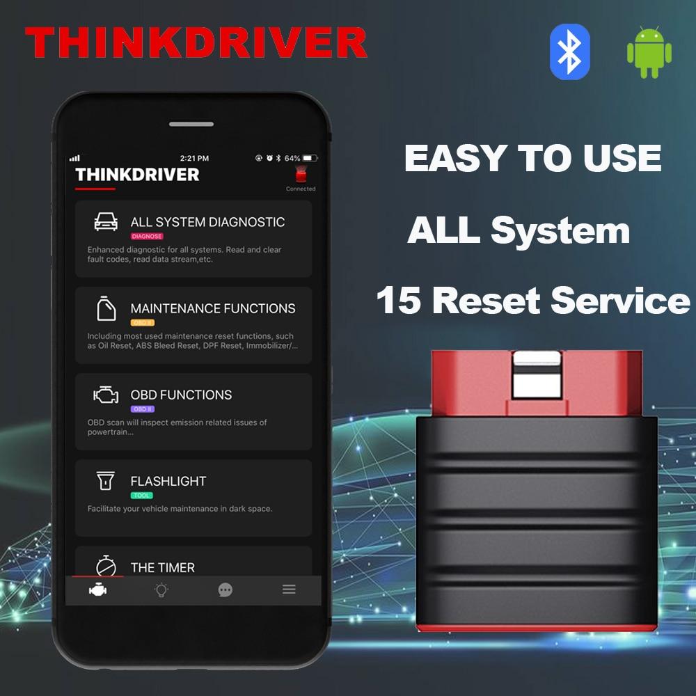 LAUNCH Thinkdriver Bluetooth OBD2 Scanner Automotive OBD 2 IOS Car Diagnostic Code Reader OBD Android Scanner PK Thinkdiag AP200|Code Readers & Scan Tools|   - AliExpress