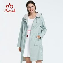 Trench-Coat Light-Colored Spring-Autumn Women Plus-Size Mid-Length-Style Astrid for