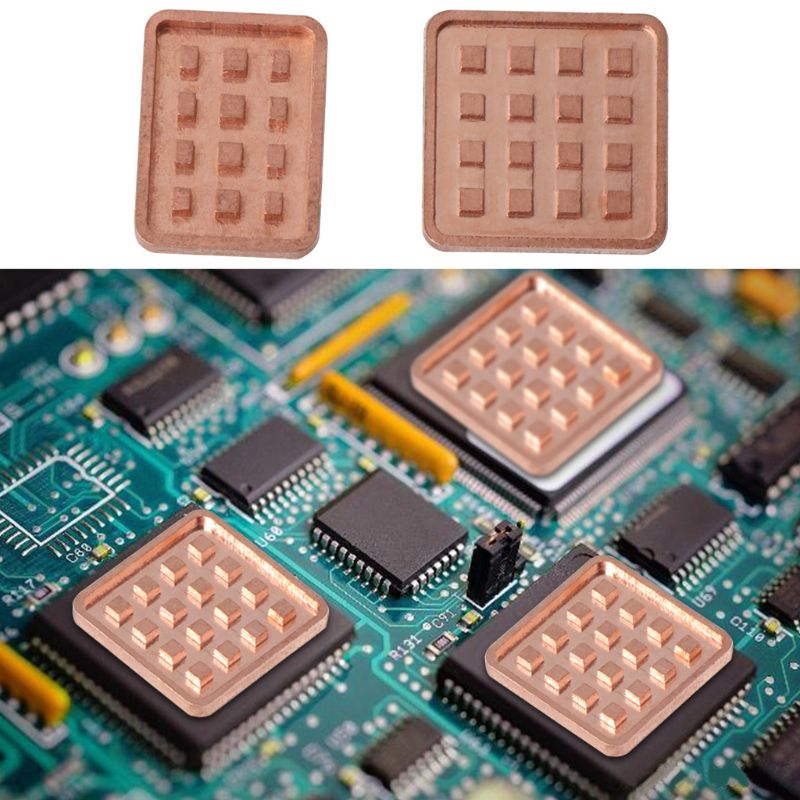 5PCS Copper Heat Sink For VGA GPU Miniature Radiator DDR3 RAM Memory IC Chipset