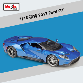 Maisto 1:18 2017 Ford GT sports car simulation alloy car model toy collection decoration gift toy 1 18 diecast model for ford tourneo brown mpv alloy toy car miniature collection gift