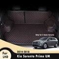 Ковры  автомобильные аксессуары  автомобильный Стайлинг  автомобильный грузовой лайнер  коврики для багажника Kia Sorento Prime UM 5 мест 2014 2015 2016 2017 ...