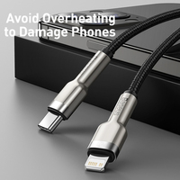 Baseus USB C Cable for iPhone 12 Mini Pro Max PD 20W Fast Charge Cable for iPhone 11 8 Charger USB Type C Cable for Macbook Pro