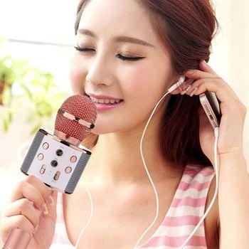 Wireless Portable Handheld Bluetooth Karaoke Microphone Singing Machine k2 wireless mini family home karaoke echo system handheld singing machine box microphone karaoke player