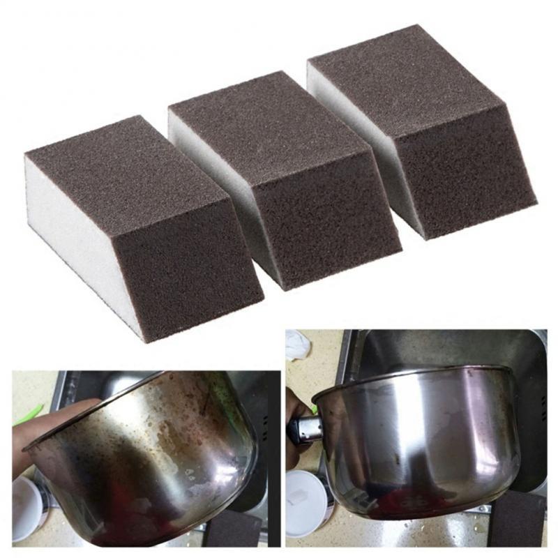 Alumina Emery Sponge Brush Eraser Strong Decontamination Cleaning Brush Rust Removing Tool Pot Rust Remover Brush Kitchen Tools