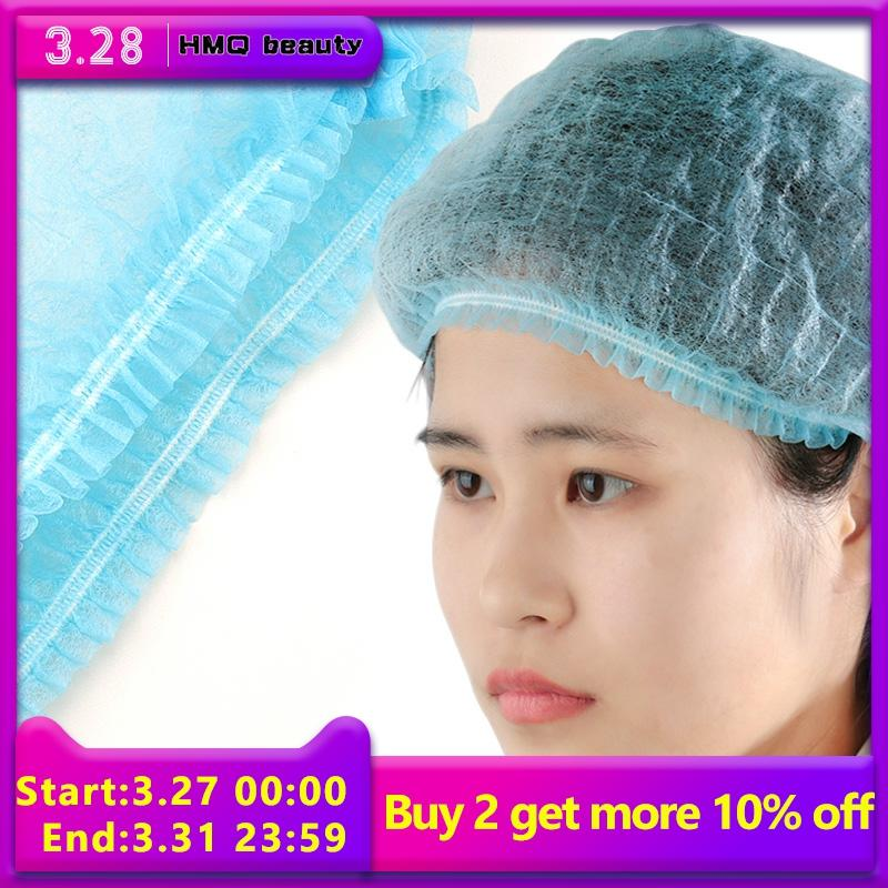 10/20/50pcs Disposable Hat Cap Elastic Transparent Grafting Eyelash SPA Hair Salon Bathroom Supplies