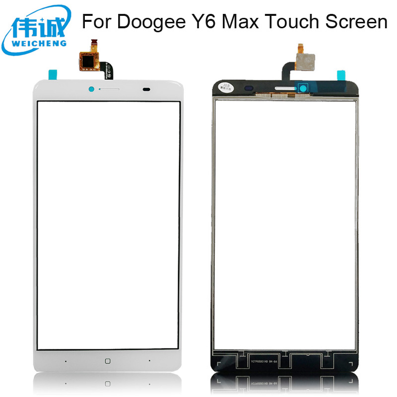 Touch Screen Panel For Doogee Y6 Max Sensor Touch Screen Digitizer Panel Repair Parts Front Glass Lens Sensor Tools enlarge