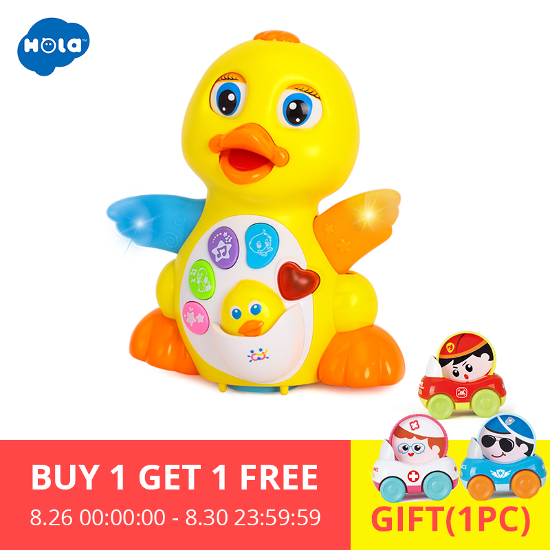 Baby Toys Duck Electrical Kids Children 1-3-Years-Old HOLA Yellow Infant For Bebe 808